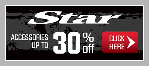 Star Motorcycle Accessories up to 30% off